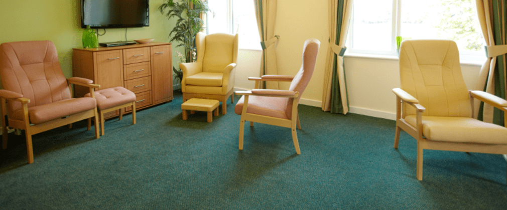 Durable hardworking carpets for nursing homes