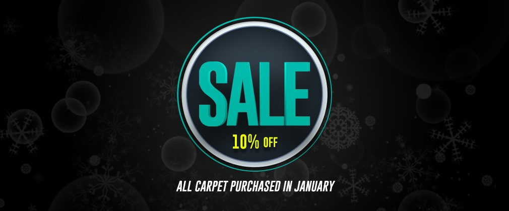 10% all carpet purchased in January
